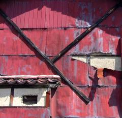 痕跡-5/The red wall which was torn