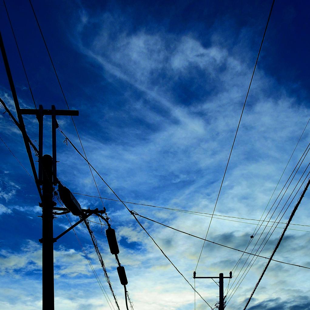 構成-43/Mysterious clouds and delicate lin