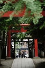 花園神社にて
