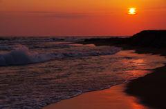 春の海・夕景