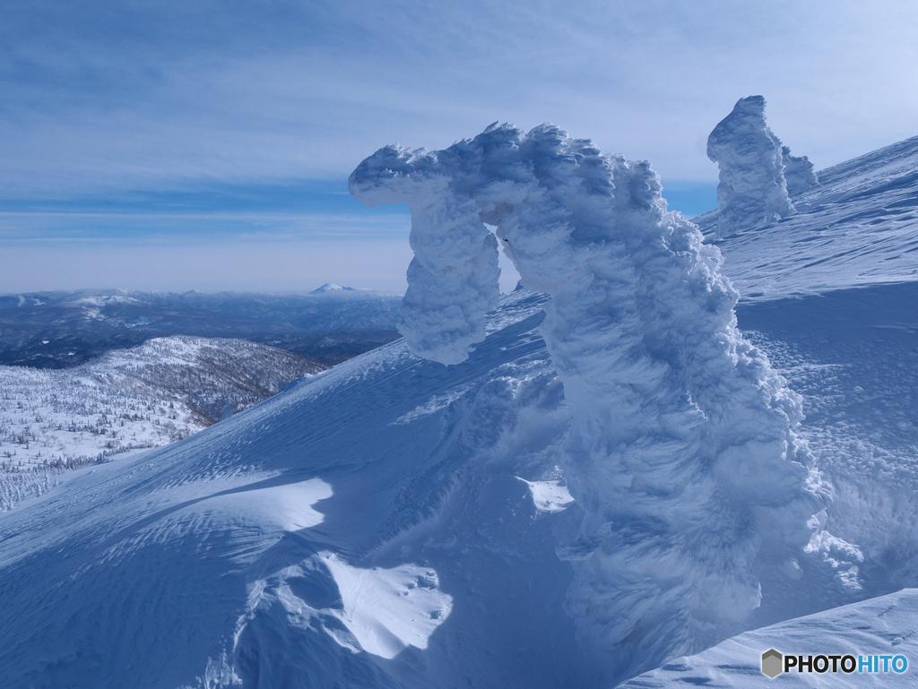 タツノオトシゴと岩手山