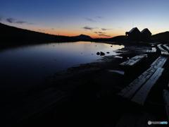 阿弥陀池の朝