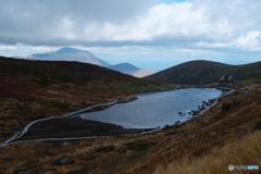 阿弥陀池と岩手山
