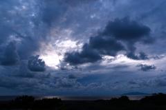 初秋の夕浜Ⅰ