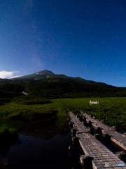 月明かり・竜ヶ原湿原