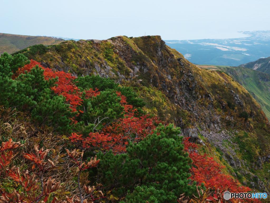 文殊岳への稜線