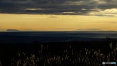 高原から望む