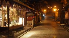 夜は静かな京都
