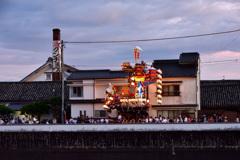 日田の町並と山鉾