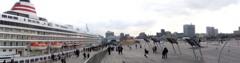 10年前のパノラマ写真 横浜港大桟橋
