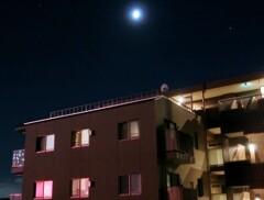 花火と月と木星と土星の競演
