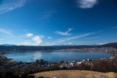 諏訪湖と白鳥丸