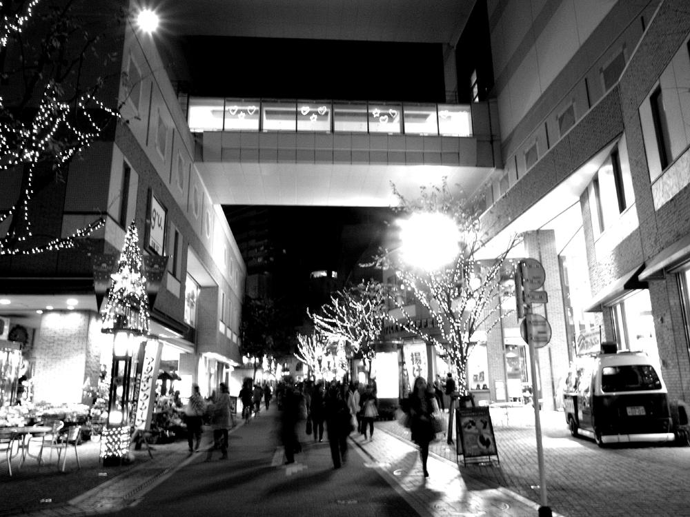 師走の街路