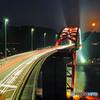 縦構図の第二音戸大橋-夜景