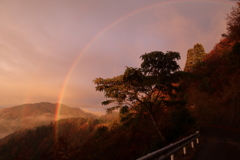 朝焼けの虹