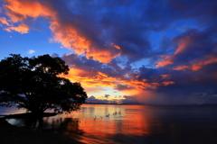 琵琶湖夕焼け
