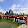 『松本城×赤橋』