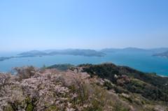 桜と瀬戸の島々