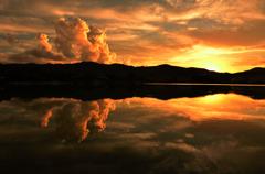 夕日の表現