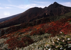 那須連峰を望む