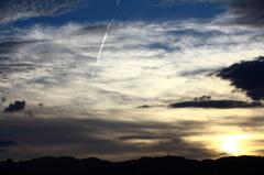 空 雲 夕日