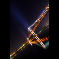 明石海峡おおは・・・じゃなく、白鳥大橋 (^O^)/