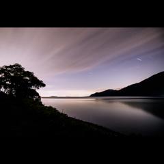 深夜の琵琶湖