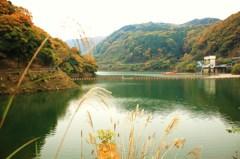 錦秋の鳳凰湖