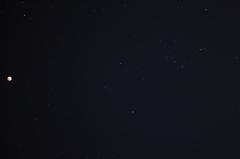 月食とオリオン座