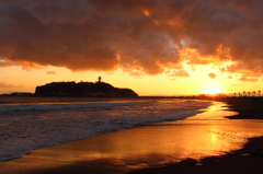江の島・夕景