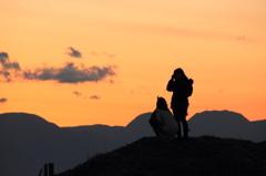 夕焼けの丘