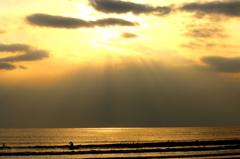 続・夕陽のサーファー