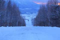 凍てつく道
