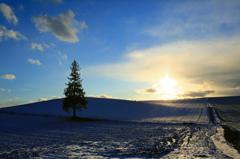 冬の夕暮れは早い