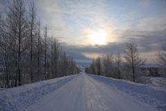 真冬のすべり台