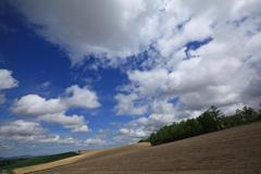 青空と雲と大地と
