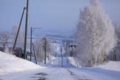 冬のすべり台