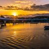 平潟湾の夕焼け