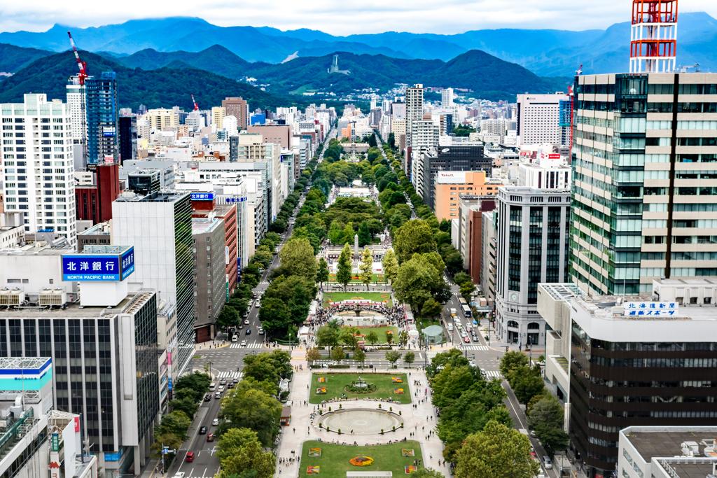 札幌大通り公園と大倉山シャンツェ