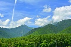 お盆の北葛岳と蓮華岳