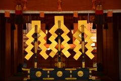 車折神社本殿の金幣3