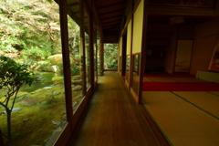長楽寺拝観所廊下