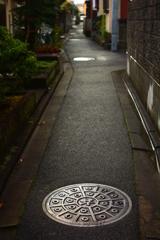 雨上がりの京の路地