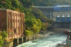天ヶ瀬ダムの秋