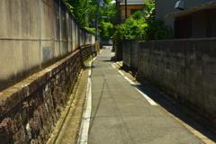 御辰稲荷神社への道