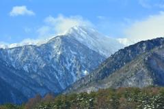冬の蓮華岳