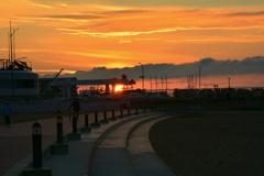須磨ヨットハーバーの朝