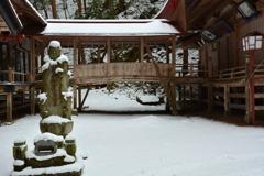 仏崎山観音寺の冬