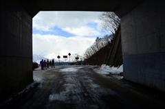 白沢峠隧道より
