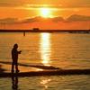 須磨海岸の朝2